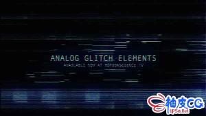 复古毛刺模拟数字信号故障元素4K高清视频素材