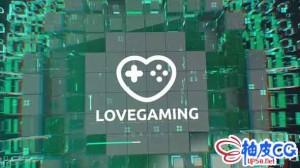 AE模板 科幻抽象粒子线条标识LOGO揭示视频 CyberSport logo
