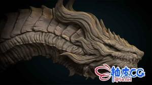 ZBrush数字雕刻龙三维模型视频教程 Artstation – Dragon Concept in Zbrush