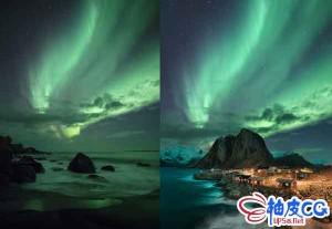 PS小城北极光场景艺术特效合成实例制作视频教程