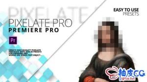 Premiere / Pr预设 100种像素化马赛克视频打码视觉特效