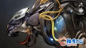ZBrush雕刻硬表面机械生物怪兽实例视频教程