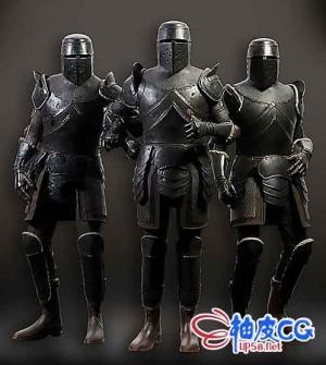 欧洲中世纪骑士装甲骑士3D模型