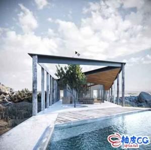 3ds Max 2020 & Corona 5制作室外建筑3D模型及最终效果