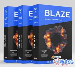 Blender爆炸火焰烟雾特效插件 Blender Market – Blaze V1.4
