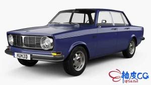 3DSMAX / C4D沃尔沃Volvo 144 sedan 1967汽车3D模型