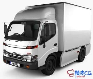 3DSMAX / C4D / MAYA日野300驾驶室卡车3D模型