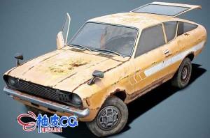 3DSMAX怀旧款经典老爷车的三维模型