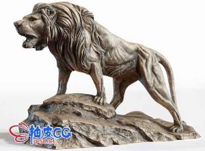 雄狮石雕3D模型 Sculpture lion