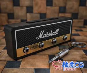 C4D马歇尔吉他音箱三维建模渲染视频教程