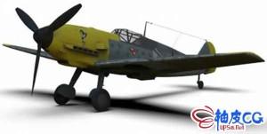 3DSMAX / C4D二次世界大战战斗机Messerschmitt Bf三维模型