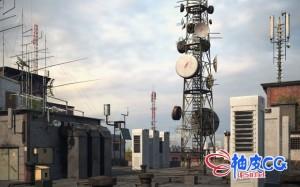 C4D / 3DSMAX / VRay工业建筑电杆天线加油站电力设备3D模型
