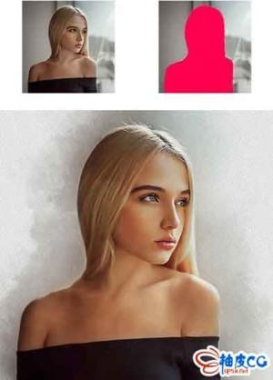 Photoshop人物照片水彩修饰效果PS动作包