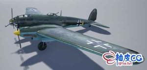 UE4虚幻引擎 / Blender二战轰炸机3D模型