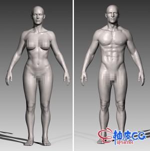 ZTL / OBJ高品质男性 / 女性人物角色3D模型