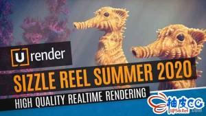 实时渲染器U-Render for Cinema 4D R19 ~ R21破解版 + 快速视频教程