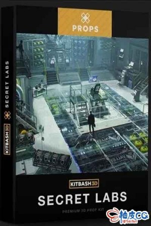 fbx / obj 科幻感对撞机机器人实验室3D模型Kitbash3D-Laboratory