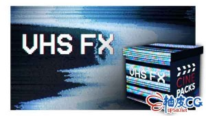 镜头数字信号模拟失真故障4K高清视频素材 CinePacks VHS FX