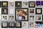 AE模板 + Pr预设 浪漫甜蜜婚礼虚光摇曳3D照片墙 Romantic Photo Wall