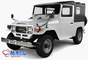 丰田汽车Toyota Land Cruiser J40精细3D模型