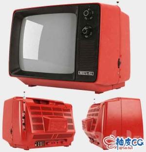 3DSMAX / VRay复古老旧电视3D模型