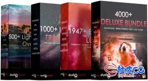 4000+种电影镜头光效转场特效LUTs调色预设音效素材合集