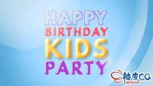 AE模板 儿童生日节日庆祝童趣盎然片头视频Kids Opener - Happy Kids