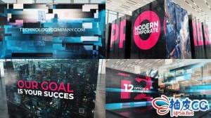 AE模板 商业数字技术企业公司业务介绍 Modern Technology Corporate