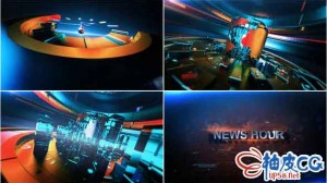 AE模板 新闻播报节目片头预告视频 News Hour