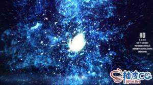 AE模板 粒子碰撞爆炸耀斑标识LOGO展示 Fluid Particles Reveal
