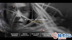 AE模板 经典历史记忆电影视差效果预告片头 History Slideshow In Photos