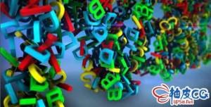 AE模板 3D字母随机组合标识LOGO片头视频Alphabetical Logo