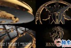 AE模板 E3D金黑色明亮质感三维标识LOGO展示视频 Gold Black And Shine Logo Reveal
