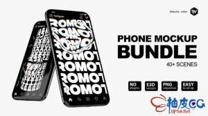 AE模板 iphone 11 pro市场营销应用程序介绍促销视频 Phone Mockup Bundle