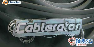 Blender 2.8+创建编辑悬挂式电缆插件BL_Cablerator1.2.0