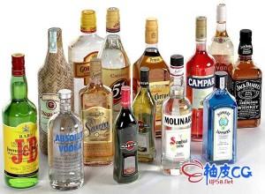 3DSMAX / C4D / VRay酒水饮料瓶装包装3D模型合集