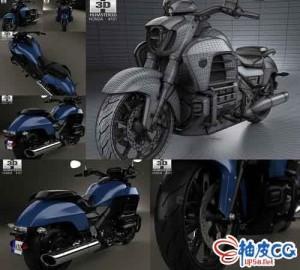 C4D / 3DSMAX本田Valkyrie GL1800C摩托车精细3D模型