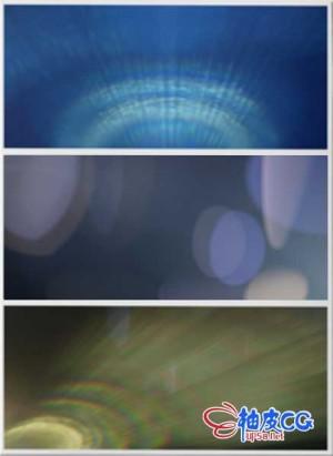 复古变形镜头光效后期合成特效 4K高清叠加视频素材集