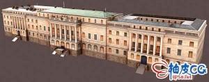3DSMAX海关大楼的3D模型