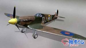 3DSMAX二战战机喷火MK2A三维模型
