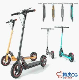 3DSMAX儿童滑板车3D模型素材