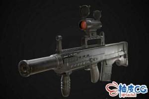 3DSMAX战斗步枪ASh-12-7三维模型