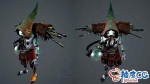 3DSMAX科幻人物枪商3D模型