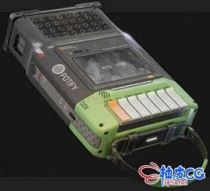 3DSMAX老式盒式播放器Potify 3D模型