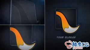 AE模板 电影3D皮革纹理标识LOGO揭示 Leather Logo Reveal