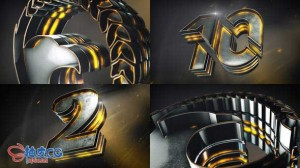 AE模板 震憾3D跨年倒计时公司企业片头动画Epic Logo Reveal And Countdown