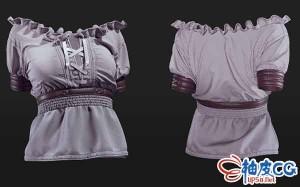 Clo 3D欧洲中世纪女性衬衫创建视频教程 + 工程文件