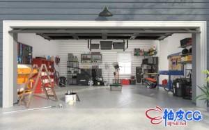 C4D / 3DSMAX / VRay车间和花园工具箱设备精细3D模型