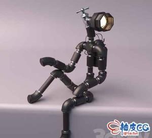 3DSMAX创意机器人灯三维模型