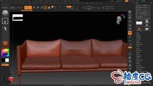 ZBrush数字雕刻布料模型细节视频教程